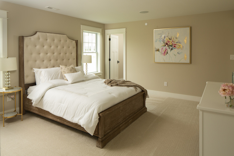 View of staged luxury bedroom