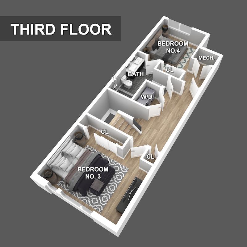 Third Floor Floorplan of Liberty Square