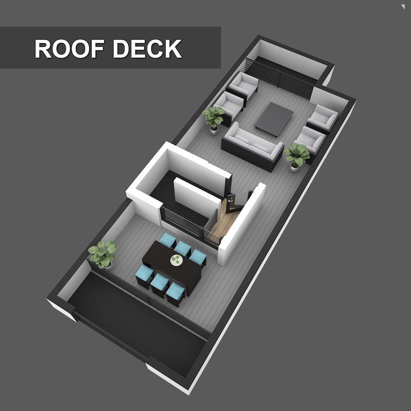 Roof Top Floorplan of Liberty Square