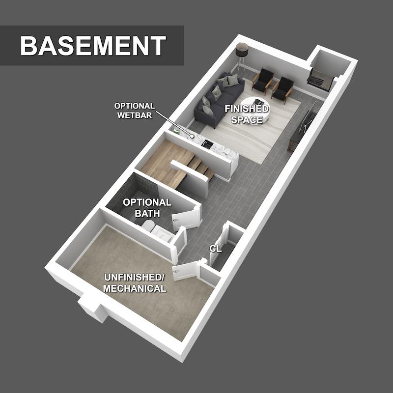 Basement Floorplan of Liberty Square