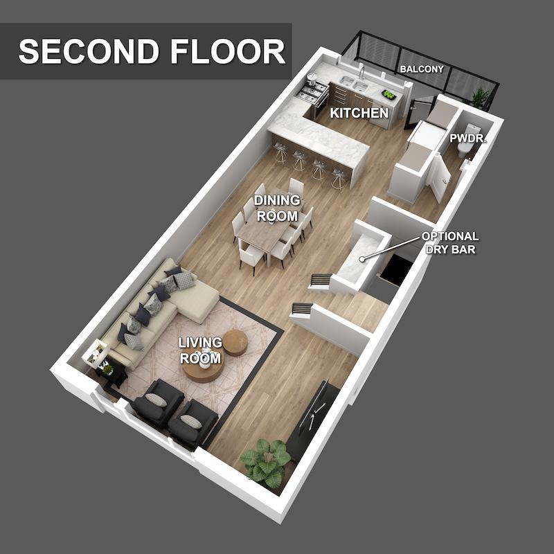 second floor Floorplan of Liberty Square