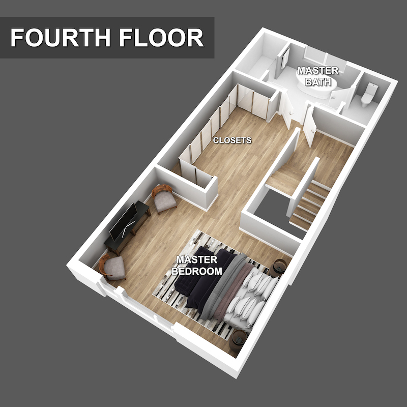 Fourth floor Floorplan of Liberty Square