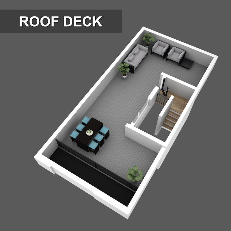 Roof deck Floorplan of Liberty Square