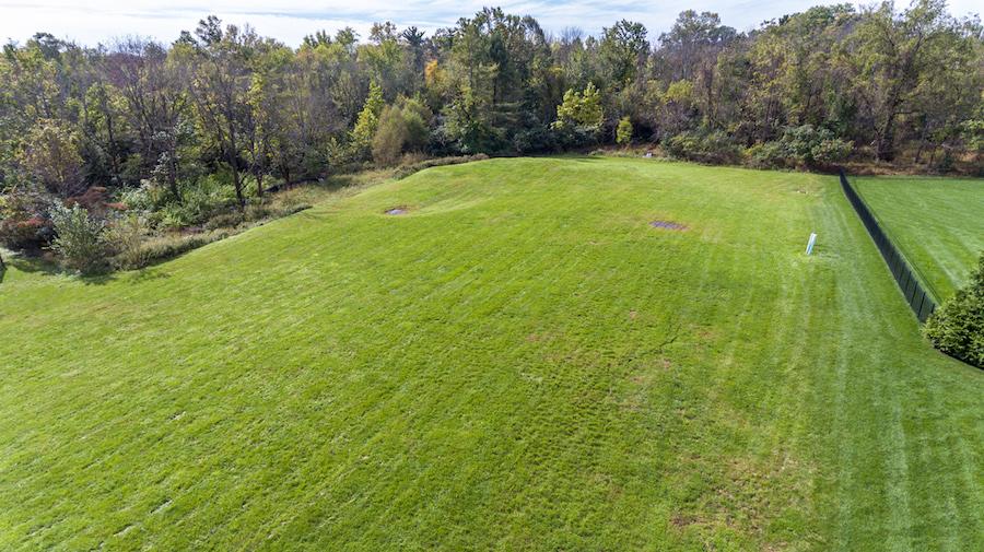 aerial view of yard of estate