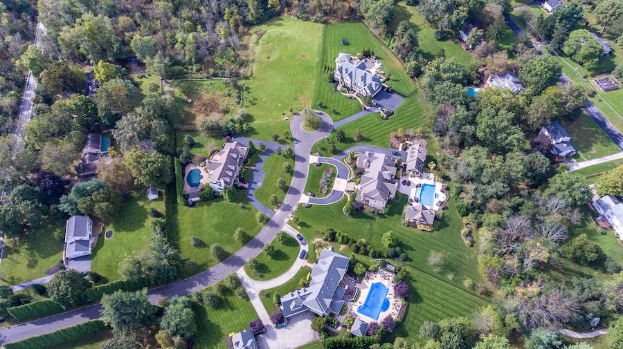 aerial views of estates