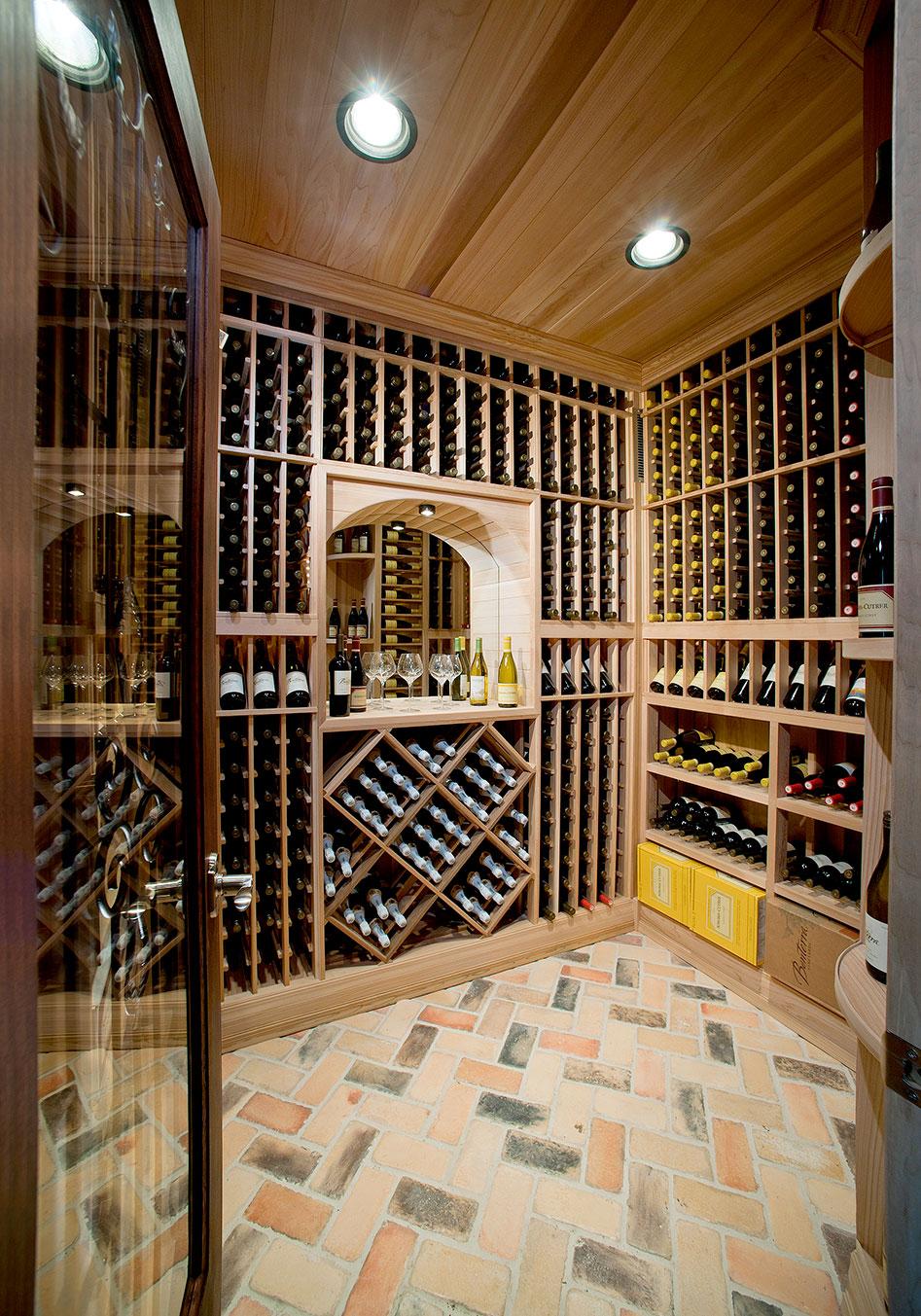 huge wine cellar