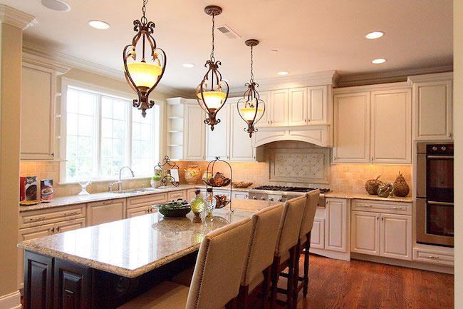 peninsula style open kitchen