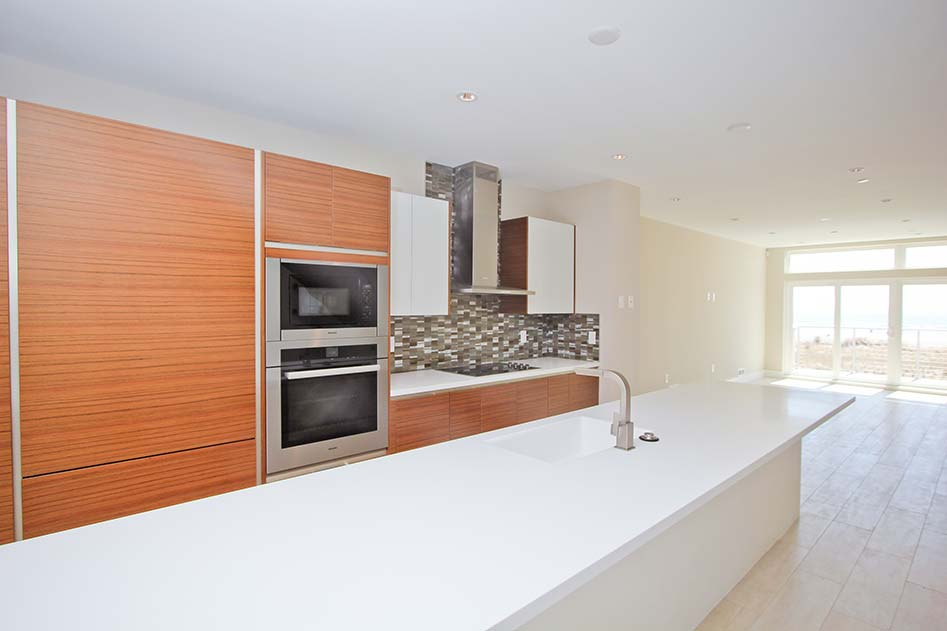 luxury kitchen with wooden cabinets