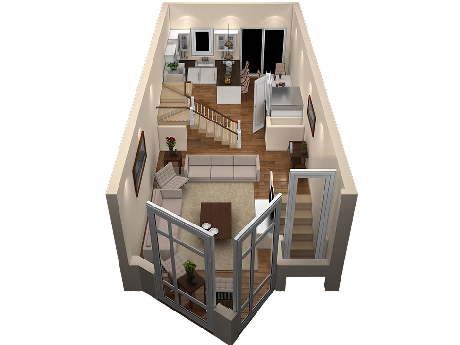 layout of second floor