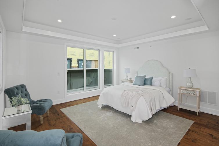 Regent Row angled view of bedroom
