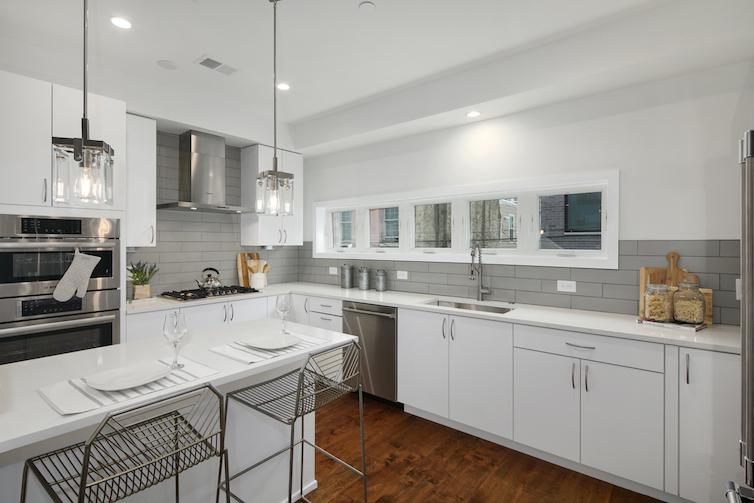 Regent Row modern white kitchen