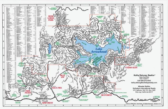Lake Arrowhead Map