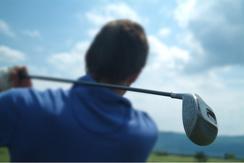 person golfing on a south carolina course