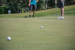 golfers on Charleston golf course