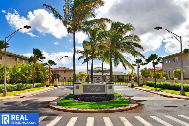 Gated entry at The Bluffs at Maui Lani