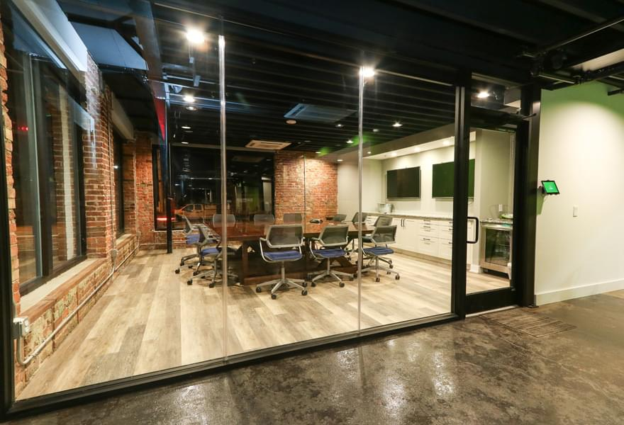 Large glass meeting room