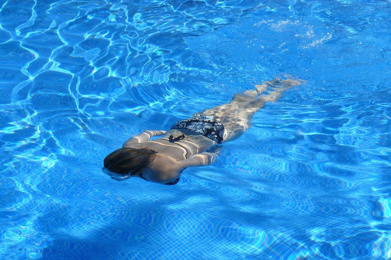 swimming at the Chancellor's Ridge pool
