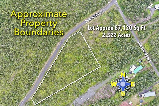 Rare find oversized 2.52 acre not your typical lot in Fern Acres subdivision
