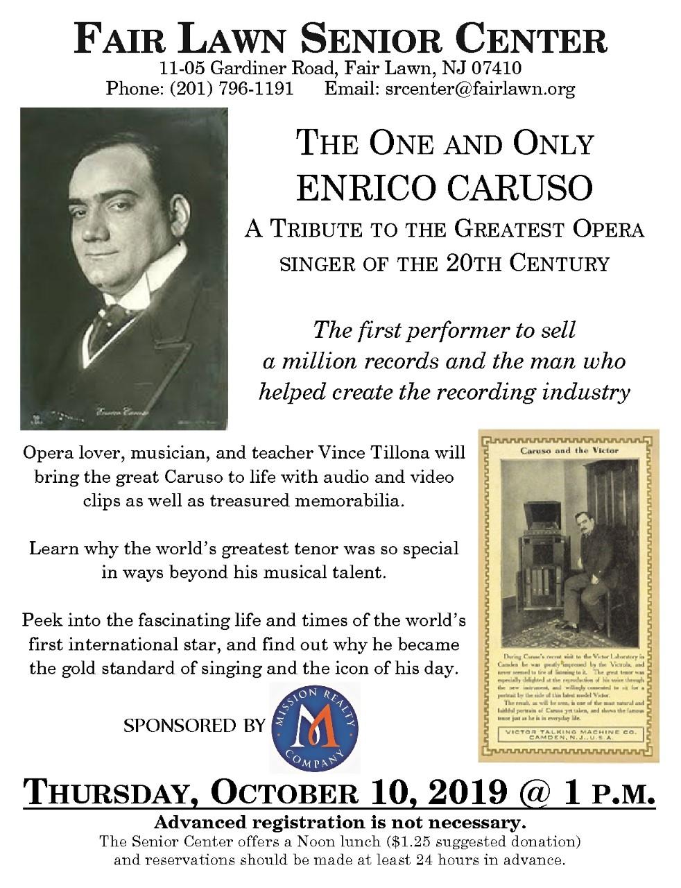 Opera FL Senior Center October 10