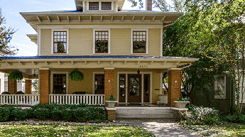 Craftsman-style house with spacious porch