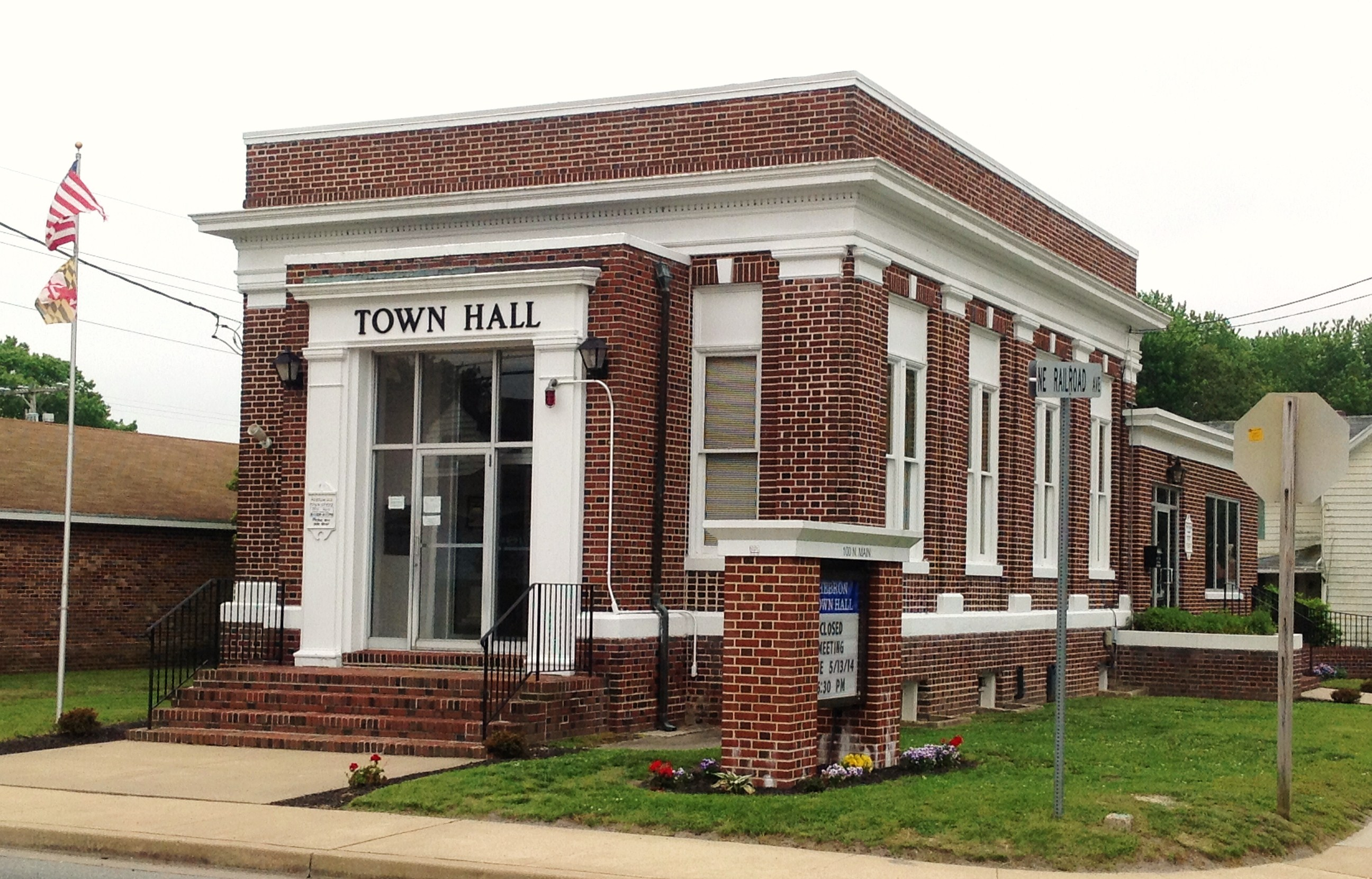 Town Hall in Hebron MD
