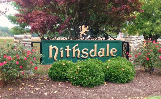 Nithsdale Salisbury MD neighborhood entrance