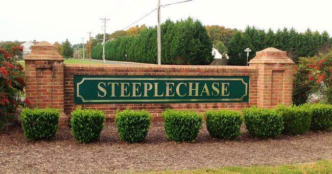Steeplechase neighborhood entrance in Salisbury Maryland