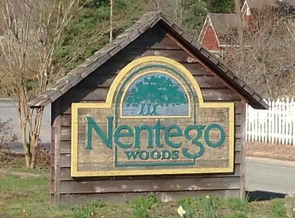 Nentego Woods neighborhood entrance Fruitland MD