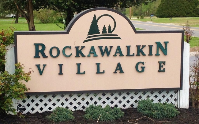 Entrance to Rockawalkin Village in Hebron Maryland