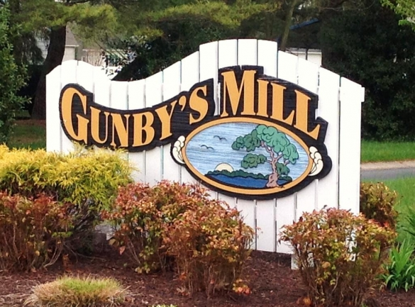 Entrance to the Gunby's Mill neighborhood in Salisbury Maryland