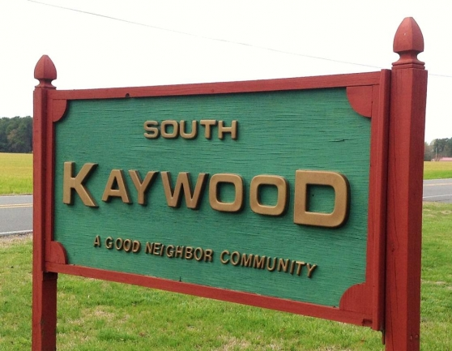 Entrance to the South Kaywood community in Salisbury Maryland