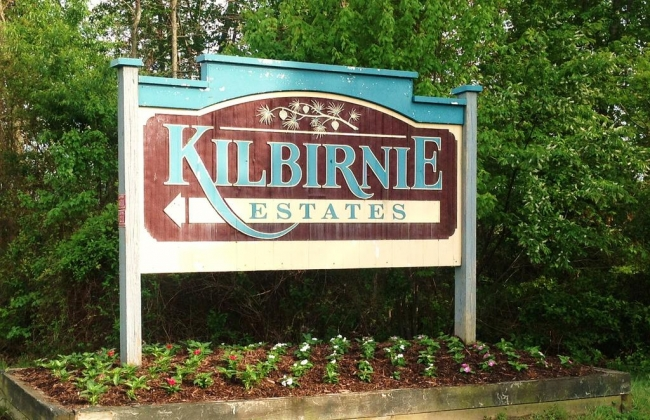 Entrance to Kilbirnie Estates in Salisbury Maryland