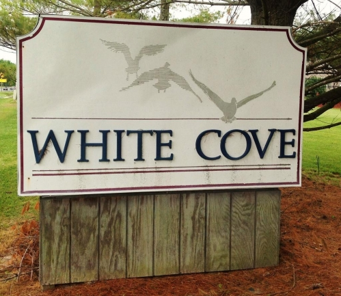 Entrance to the White Cove neighborhood in Salisbury MD