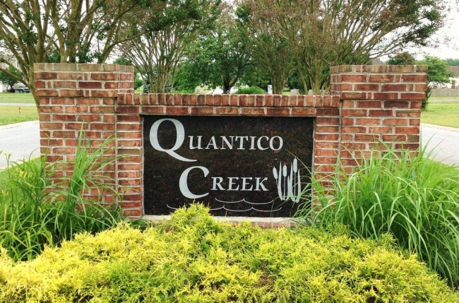Entrance to Quantico Creek Estates in Hebron Maryland