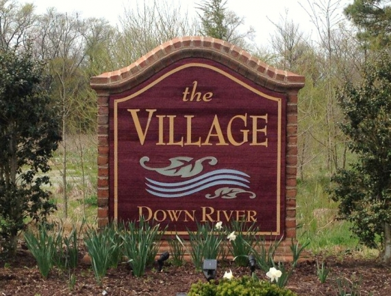 Entrance to The Village Down River community in Salisbury Maryland