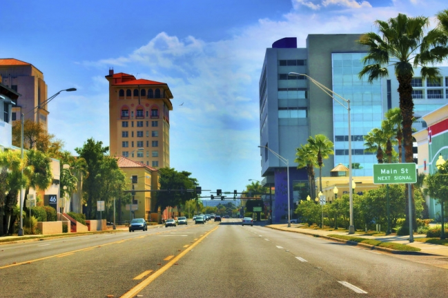 Sarasota's downtown is located on Main Street