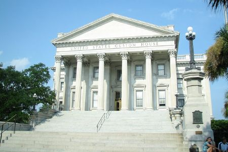 View of the United States Custom House in Charleston, SC.