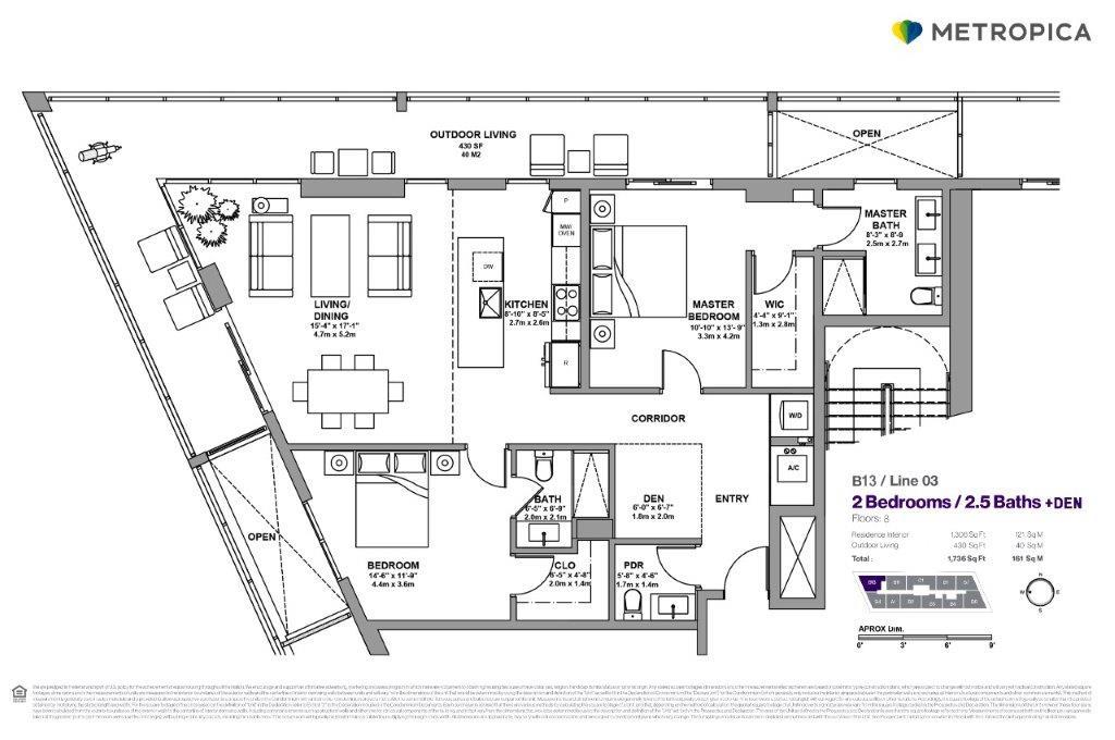 B Line Floor plan