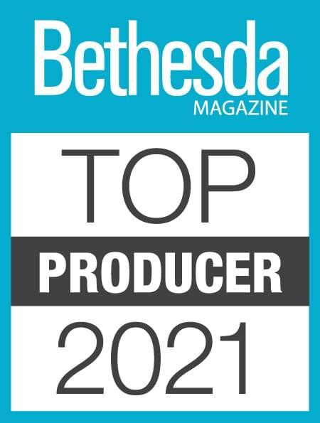 Bethesda Top Producer 2021 Award
