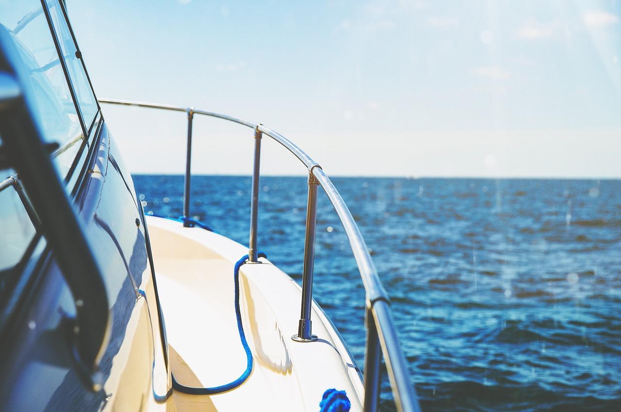 Boat out at sea.