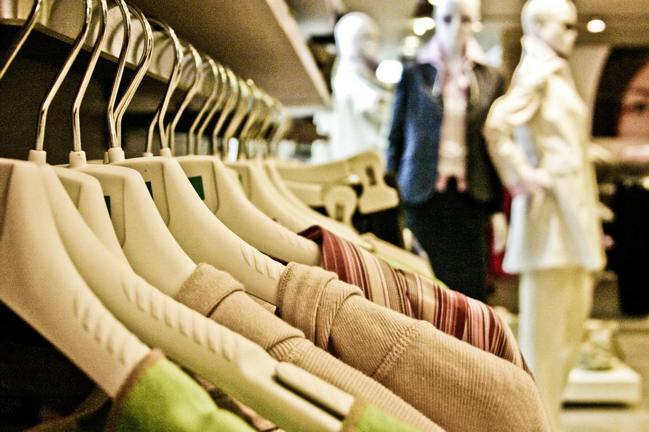 Shopping clothes.