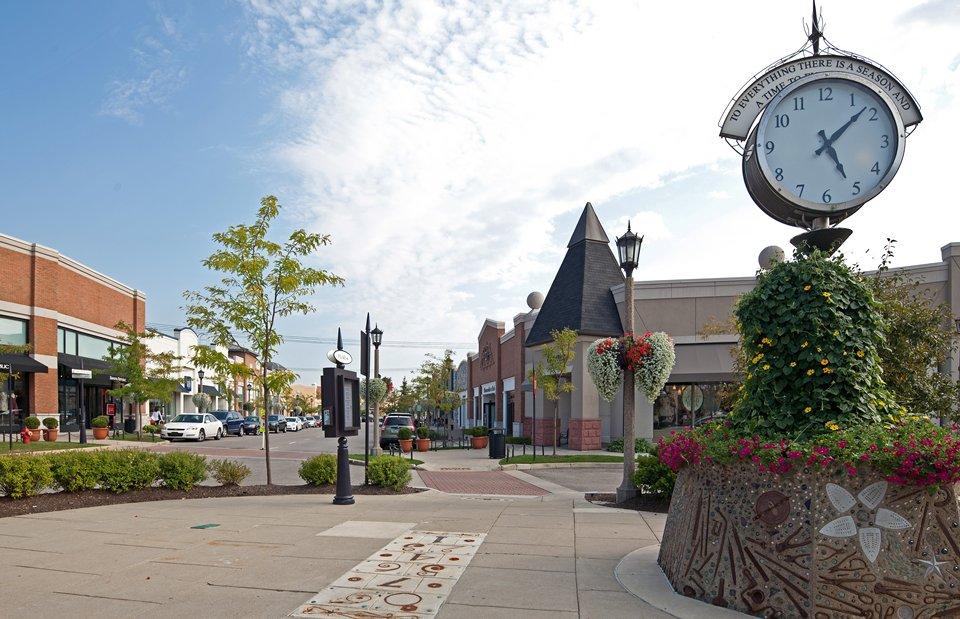 downtown Novi, Michigan