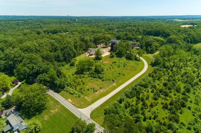Aerial view of Camp Woods Estates