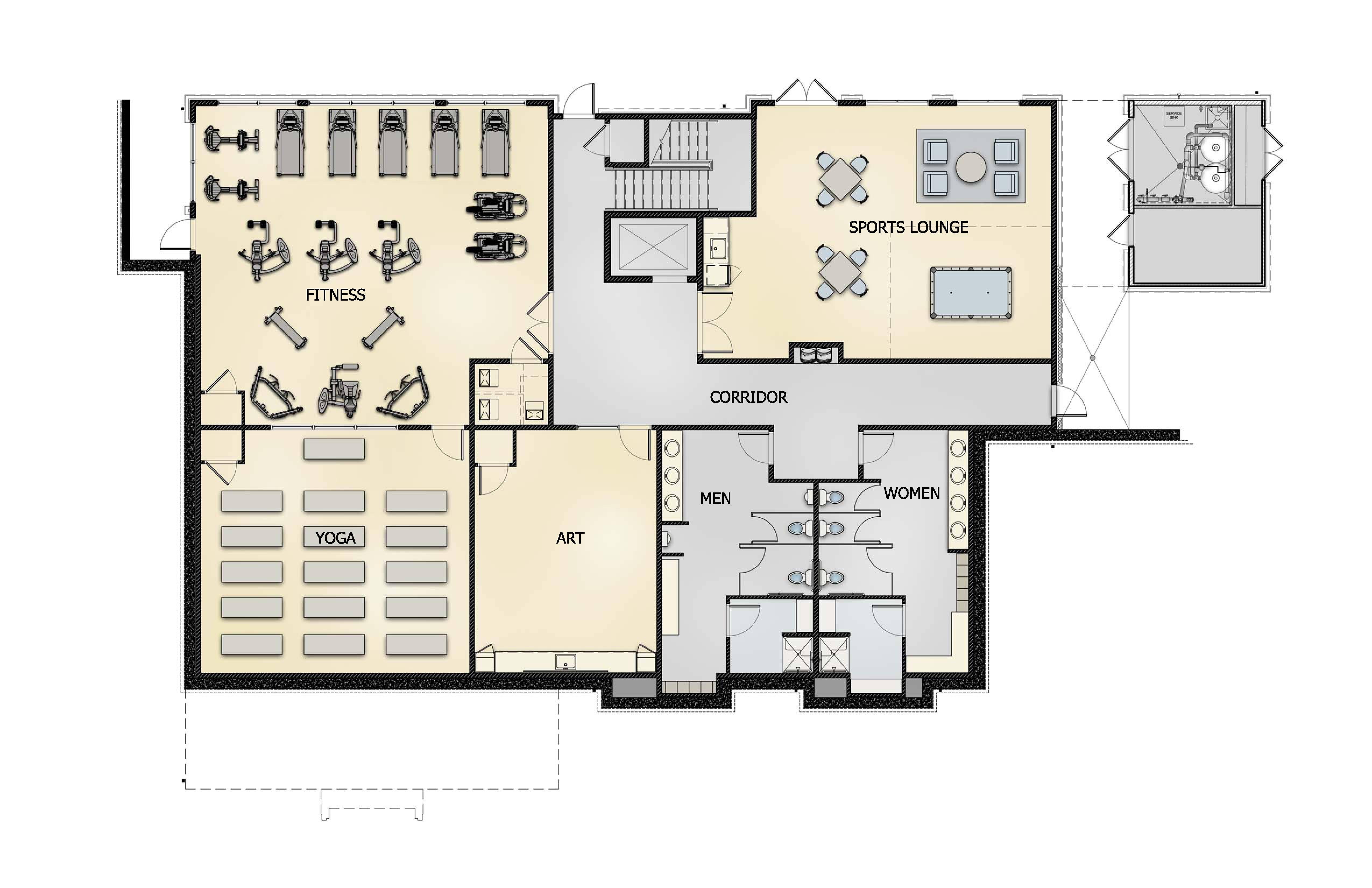 The Village Club lower floor