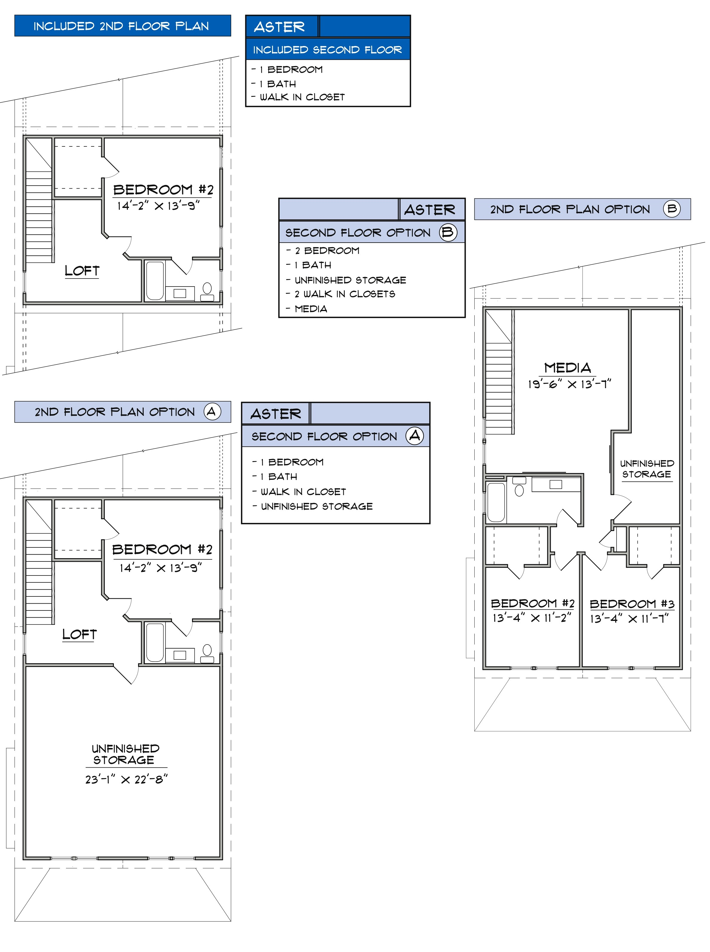 Aster 2nd Floor Plan by The Walk at East Village, Clayton