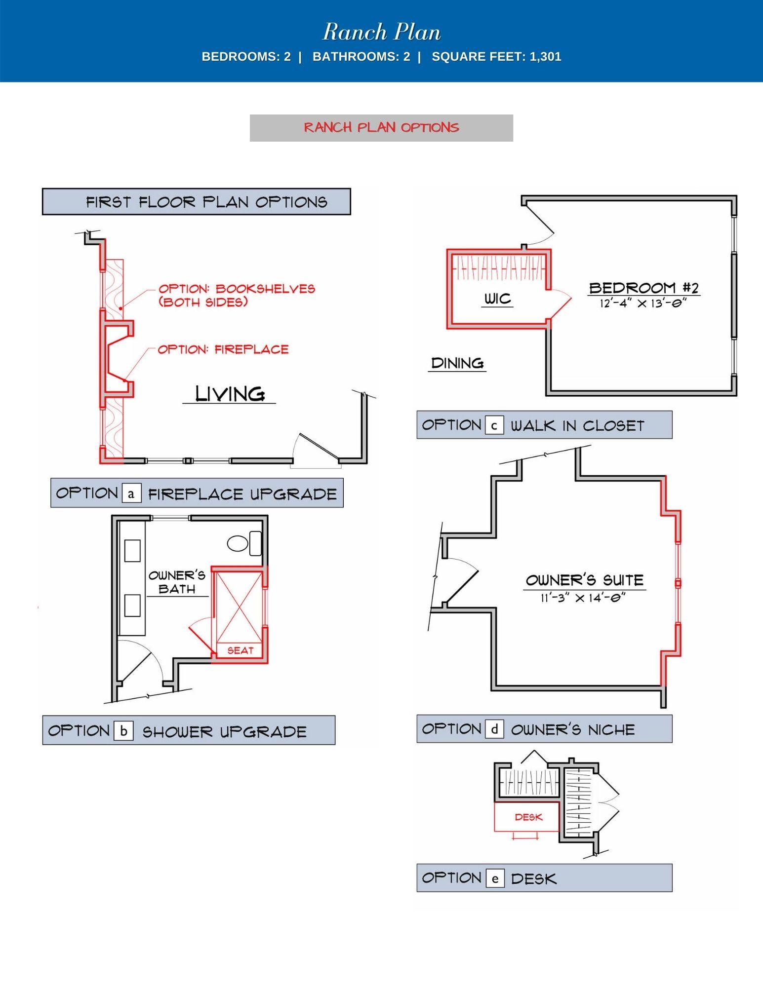 Azalea Floor Plan Options