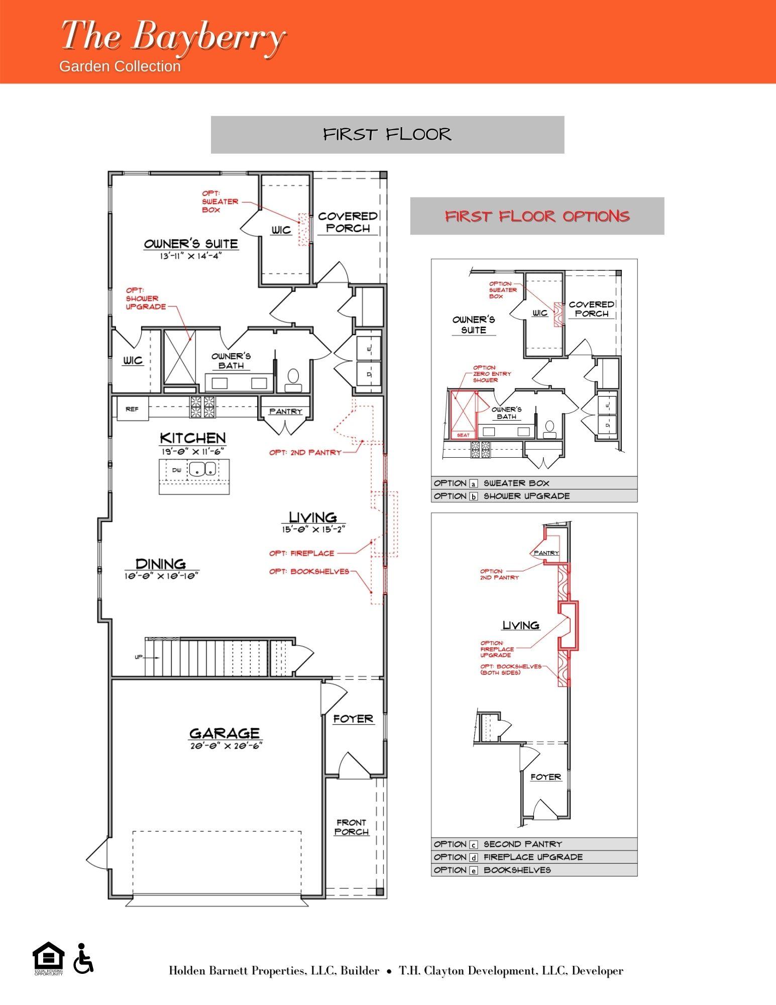 The Bayberry First Floor Floorplan
