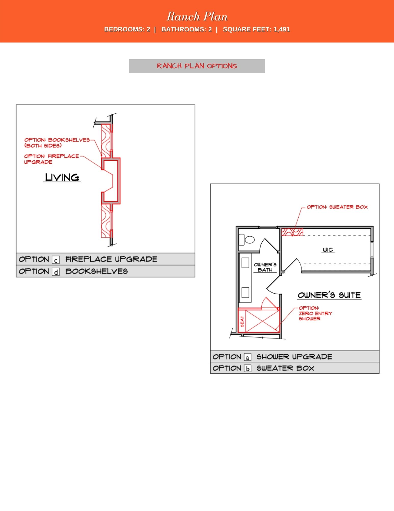 Camelia Floor Plan Options