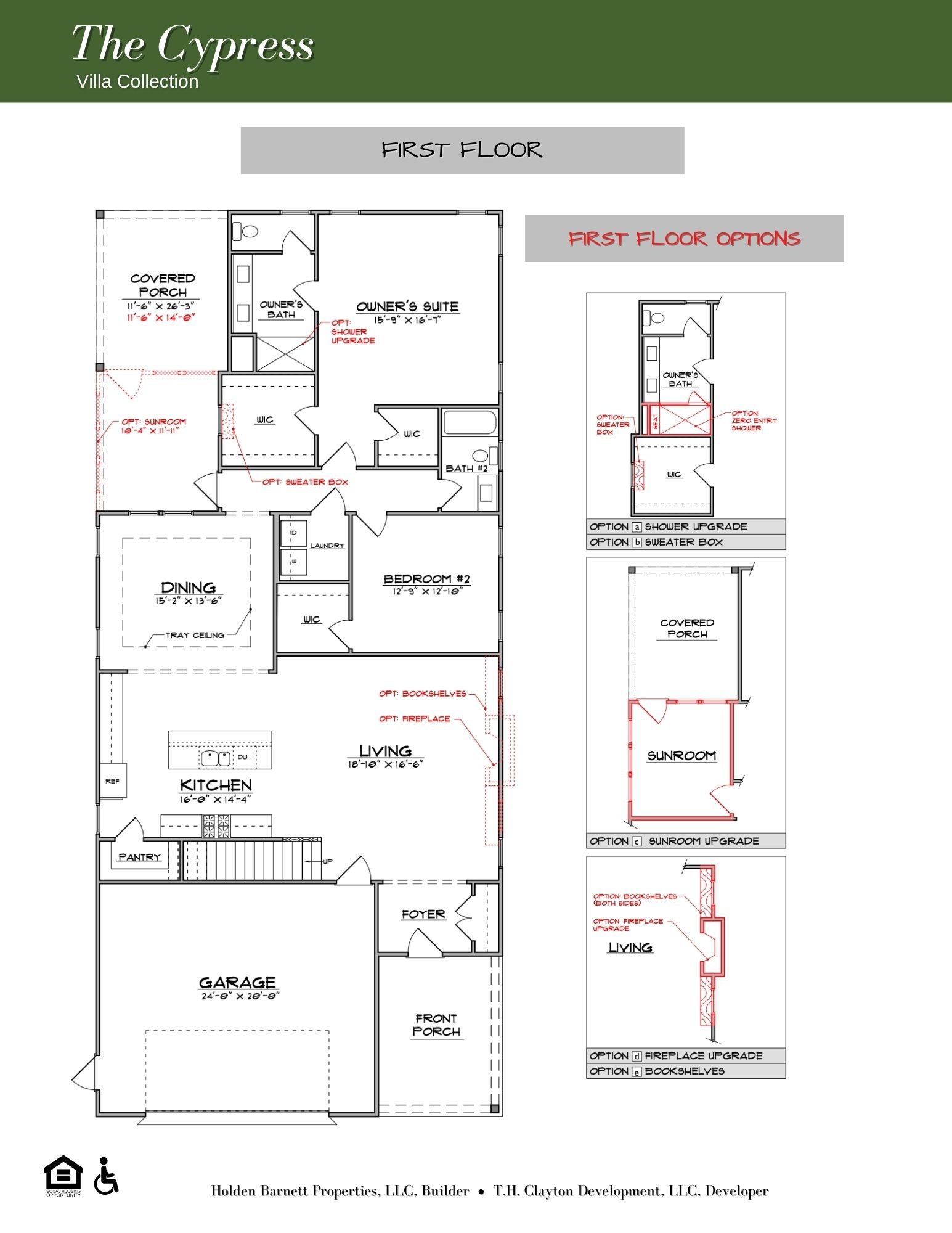 The Cypress First Floor Floorplan
