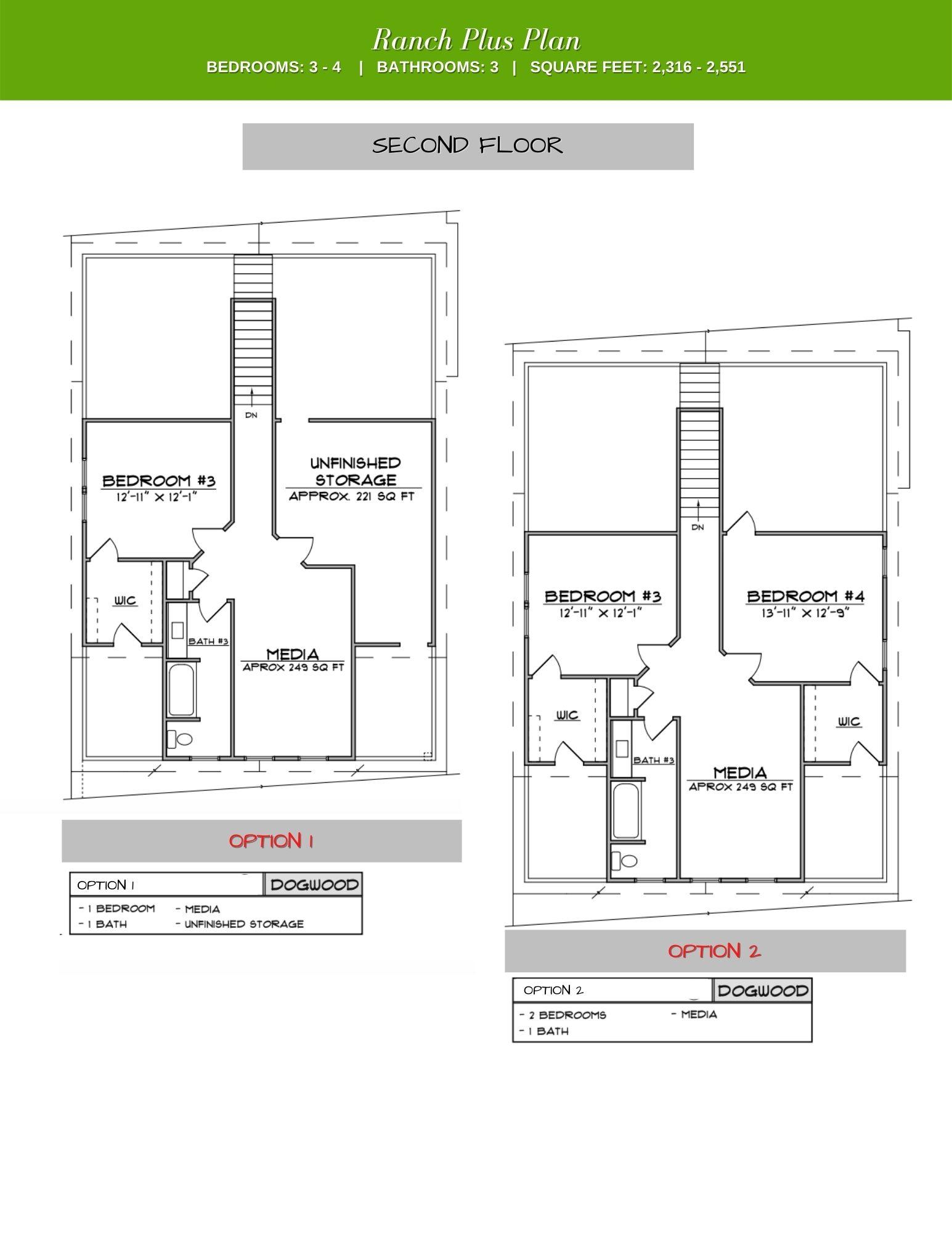 The Walk at East Village's dogwood 2nd Floor Plan